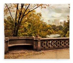 Balcony Bridge Views Fleece Blanket