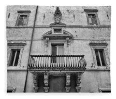 Balcony In Assisi Fleece Blanket