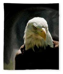 Bald Eagle Giving You That Eye Fleece Blanket