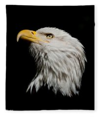 Bald Eagle Looking Skyward Fleece Blanket