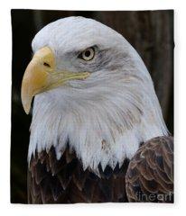 Bald Eagle Portrait Fleece Blanket
