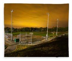 Ball Field At Night Fleece Blanket
