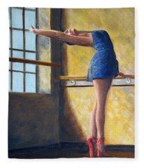 Ballet Dancer Warm Up Fleece Blanket