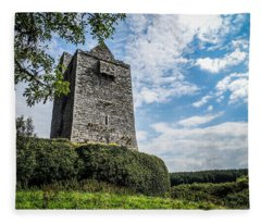 Ballinalacken Castle In Ireland's County Clare Fleece Blanket