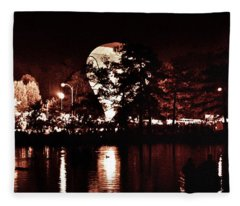 Balloon Glow By Forest Park Lagoon Fleece Blanket