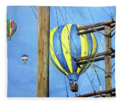 Balloon Race Fleece Blanket