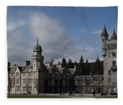 Balmoral Castle In A Closeup Panorama Fleece Blanket