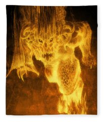 Balrog Of Morgoth Fleece Blanket