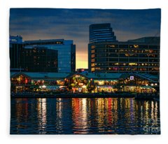 Baltimore Harborplace Light Street Pavilion Fleece Blanket