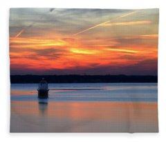 Baltimore Light At Gibson Island Fleece Blanket