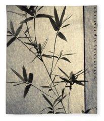 Bamboo Leaves Fleece Blanket