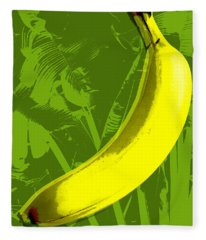 Banana Pop Art Fleece Blanket