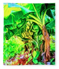 Bananas In Lahaina Maui Fleece Blanket