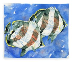 Banded Butterflyfish Fleece Blanket