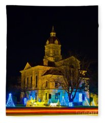 Bandera County Courthouse Fleece Blanket