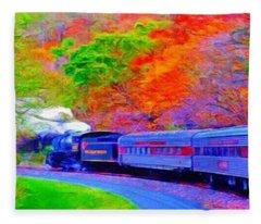 Bang Bang Choo Choo Train-a Dreamy Version Collection Fleece Blanket