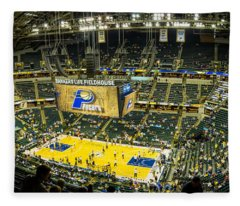 Bankers Life Fieldhouse - Home Of The Indiana Pacers Fleece Blanket