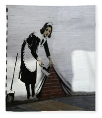 Banksy Maid Fleece Blanket