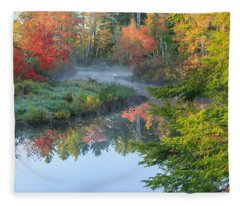 Bantam River Autumn Fleece Blanket
