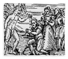 Baptism By The Devil Fleece Blanket
