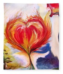 Baptize Me With Holy Fire Fleece Blanket