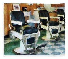Barber - Corner Barber Shop Fleece Blanket