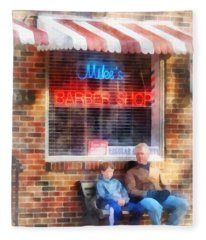 Barber - Neighborhood Barber Shop Fleece Blanket