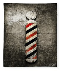 Barber Pole Selective Color Fleece Blanket