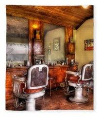 Barber - The Barber Shop II Fleece Blanket