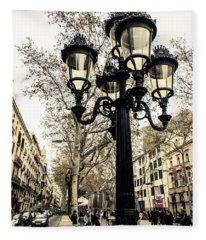 Barcelona - La Rambla Fleece Blanket