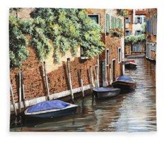 Barche A Venezia Fleece Blanket
