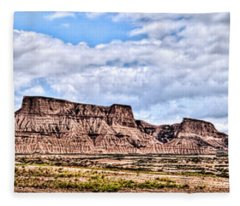 Bardenas Desert Panorama 1 Fleece Blanket