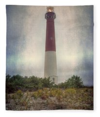 Barnegat Lighthouse Dawn Fleece Blanket