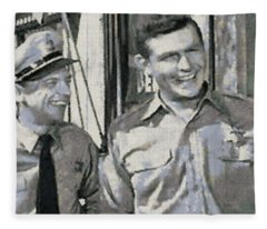Barney Fife And Andy Taylor Fleece Blanket