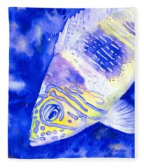 Barred Hamlet Portrait Fleece Blanket
