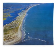Barrier Island Aerial Fleece Blanket