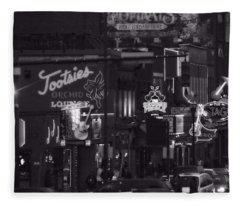 Bars On Broadway Nashville Fleece Blanket