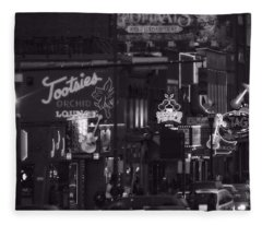 Bars On Broadway Nashville Fleece Blanket