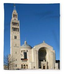 Basilica In Washington Dc Fleece Blanket