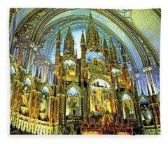 Basilica Of Notre Dame Montreal Quebec Fleece Blanket