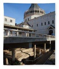 Basilica Of The Annunciation, Nazareth Fleece Blanket