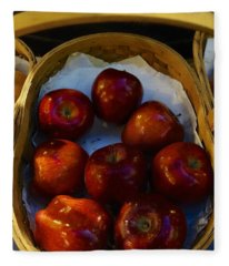 Basket Of Red Apples Fleece Blanket