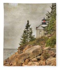 Bass Harbor Head Lighthouse. Acadia National Park Fleece Blanket