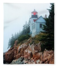Bass Harbor Head Lighthouse Fleece Blanket