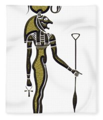 Bastet - Goddess Of Ancient Egypt Fleece Blanket
