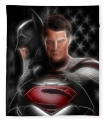 Batman Vs Superman  Fleece Blanket