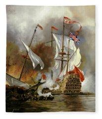 Battaglia Sul Mare Fleece Blanket