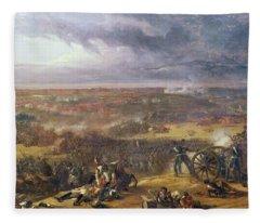 Battle Of Waterloo, 1815, 1843 Fleece Blanket