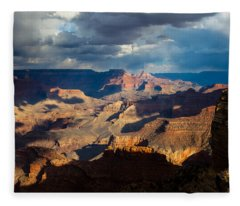 Battleship Rock In The Shadows Fleece Blanket