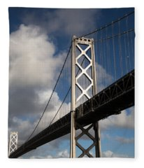 Bay Bridge After The Storm Fleece Blanket